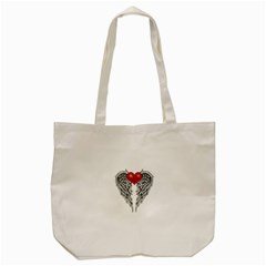 Angel Heart Tattoo Tote Bag (cream) by Valentinaart