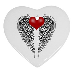 Angel Heart Tattoo Heart Ornament (two Sides) by Valentinaart