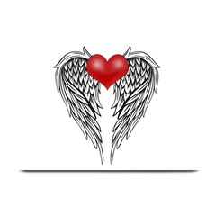 Angel Heart Tattoo Plate Mats by Valentinaart
