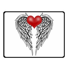 Angel Heart Tattoo Fleece Blanket (small) by Valentinaart