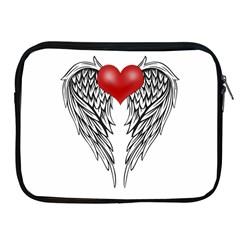 Angel Heart Tattoo Apple Ipad 2/3/4 Zipper Cases by Valentinaart