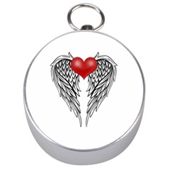 Angel Heart Tattoo Silver Compasses by Valentinaart
