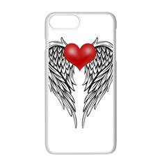 Angel Heart Tattoo Apple Iphone 7 Plus White Seamless Case by Valentinaart