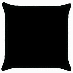 Black Throw Pillow Case (black) by theunrulyartist