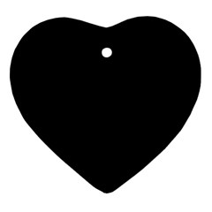 Black Heart Ornament (two Sides) by digitaldivadesigns