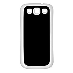 Black Samsung Galaxy S3 Back Case (white) by theunrulyartist