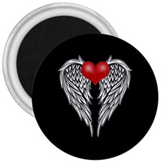 Angel Heart Tattoo 3  Magnets by Valentinaart