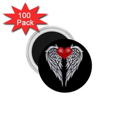 Angel Heart Tattoo 1 75  Magnets (100 Pack)  by Valentinaart