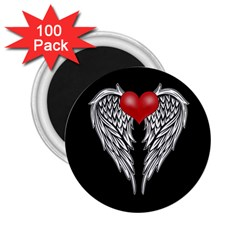 Angel Heart Tattoo 2 25  Magnets (100 Pack)  by Valentinaart