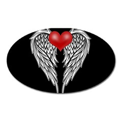 Angel Heart Tattoo Oval Magnet by Valentinaart