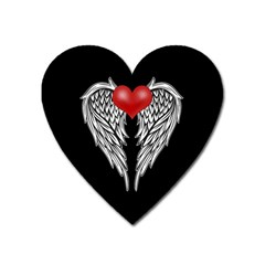 Angel Heart Tattoo Heart Magnet by Valentinaart