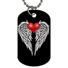 Angel Heart Tattoo Dog Tag (two Sides) by Valentinaart