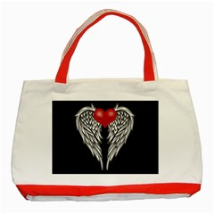 Angel Heart Tattoo Classic Tote Bag (red) by Valentinaart