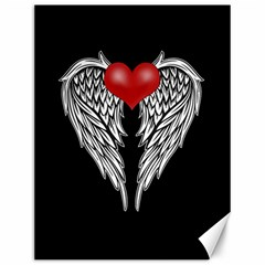 Angel Heart Tattoo Canvas 12  X 16   by Valentinaart