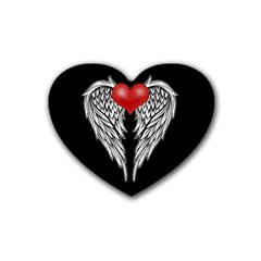 Angel Heart Tattoo Heart Coaster (4 Pack)  by Valentinaart