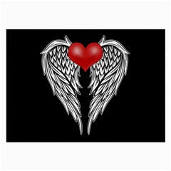 Angel Heart Tattoo Large Glasses Cloth (2 Side) by Valentinaart