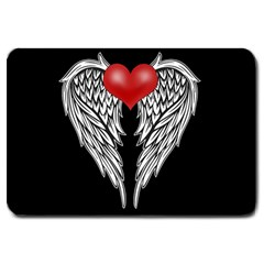 Angel Heart Tattoo Large Doormat  by Valentinaart