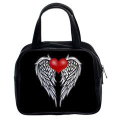 Angel Heart Tattoo Classic Handbags (2 Sides) by Valentinaart
