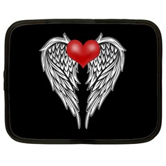 Angel Heart Tattoo Netbook Case (xxl)  by Valentinaart