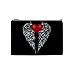 Angel Heart Tattoo Cosmetic Bag (medium)  by Valentinaart