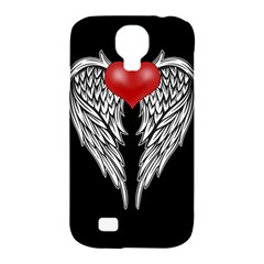 Angel Heart Tattoo Samsung Galaxy S4 Classic Hardshell Case (pc+silicone) by Valentinaart