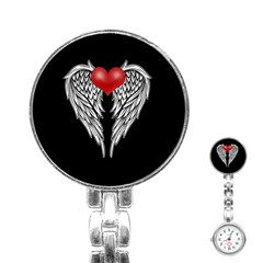 Angel Heart Tattoo Stainless Steel Nurses Watch by Valentinaart