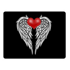 Angel Heart Tattoo Double Sided Fleece Blanket (small)  by Valentinaart