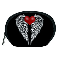 Angel Heart Tattoo Accessory Pouches (medium)  by Valentinaart