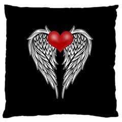 Angel Heart Tattoo Standard Flano Cushion Case (two Sides) by Valentinaart