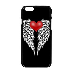 Angel Heart Tattoo Apple Iphone 6/6s Black Enamel Case by Valentinaart