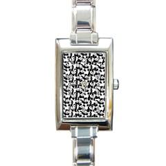 Panda Pattern Rectangle Italian Charm Watch by Valentinaart