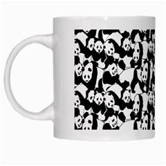 Panda Pattern White Mugs by Valentinaart