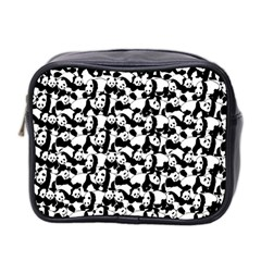 Panda Pattern Mini Toiletries Bag 2 Side by Valentinaart