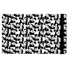 Panda Pattern Apple Ipad 2 Flip Case by Valentinaart
