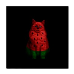Watermelon Cat Face Towel by Valentinaart