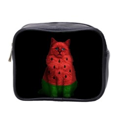 Watermelon Cat Mini Toiletries Bag 2 Side by Valentinaart