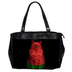 Watermelon Cat Office Handbags (2 Sides)  by Valentinaart