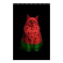 Watermelon Cat Shower Curtain 48  X 72  (small)  by Valentinaart