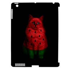 Watermelon Cat Apple Ipad 3/4 Hardshell Case (compatible With Smart Cover) by Valentinaart
