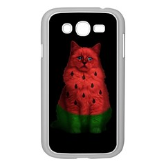 Watermelon Cat Samsung Galaxy Grand Duos I9082 Case (white) by Valentinaart