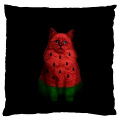 Watermelon Cat Standard Flano Cushion Case (one Side) by Valentinaart