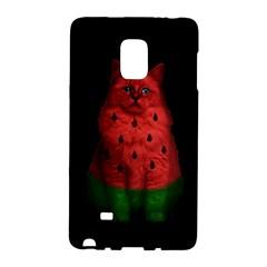 Watermelon Cat Galaxy Note Edge by Valentinaart