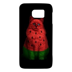 Watermelon Cat Galaxy S6 by Valentinaart