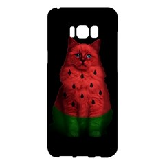 Watermelon Cat Samsung Galaxy S8 Plus Hardshell Case  by Valentinaart