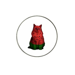 Watermelon Cat Hat Clip Ball Marker by Valentinaart