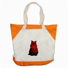 Watermelon Cat Accent Tote Bag by Valentinaart