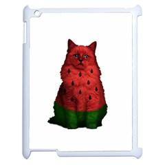 Watermelon Cat Apple Ipad 2 Case (white) by Valentinaart