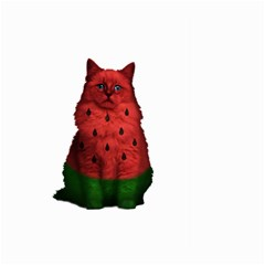 Watermelon Cat Large Garden Flag (two Sides) by Valentinaart