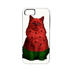 Watermelon Cat Apple Iphone 5 Classic Hardshell Case (pc+silicone) by Valentinaart