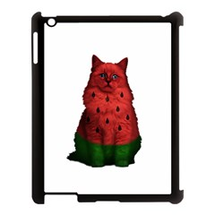 Watermelon Cat Apple Ipad 3/4 Case (black) by Valentinaart